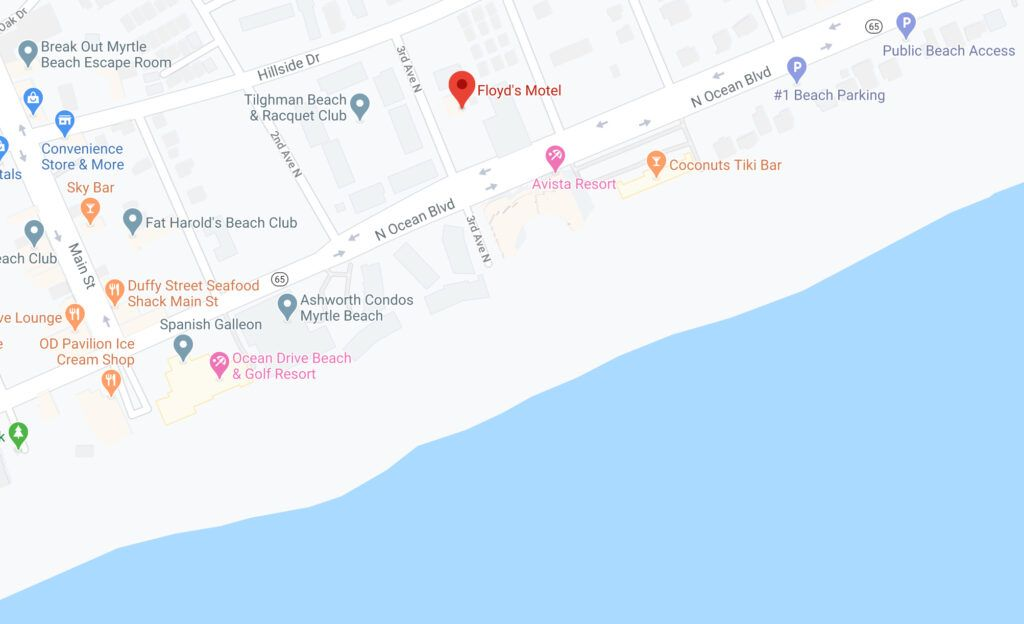 map floyds north myrtle beach sc